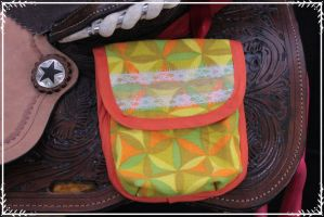 Bold Yellow Pocket Pouch by CountryTinkerBelle