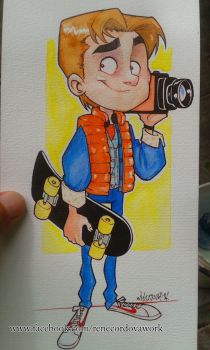 Marty Mcfly Watercolors by renecordova