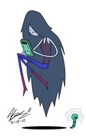 Marceline and her video game by 23isnumber1