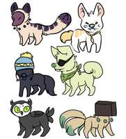 Assorted adoptables by Butt-Police