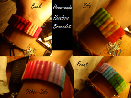 Rainbow bracelet by TayMay135