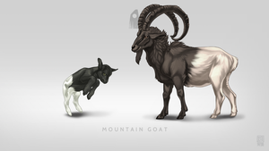 Mountain Goat Pet by Blackpassion777