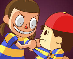 Ness' Psycho Girlfriend (SSB4) by Zerocakes