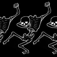 Skeleton dance by HorrorRudey