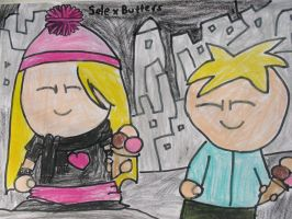 Sele x butters drawing by MewMewMinto1123