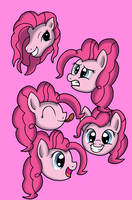 Too Many Pinkie Pies by WolfyOmega