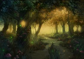 Fairy forest by Moonarc