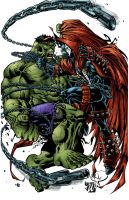Hulk vs Spawn solo by Javilaparra