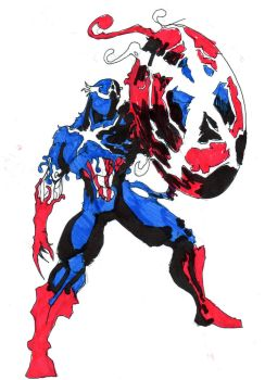 symbiote captain america by hulkling