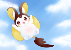 Preggy Emolga by littlepolka