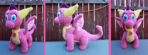 Spyro the Dragon: Ember Amigurumi by MilesofCrochet