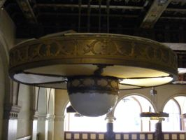 stock old building light fixture ornate by Toboe