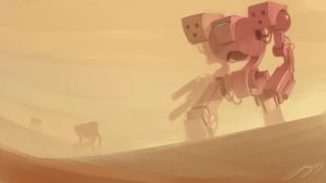 Desert Bots by JustineArt
