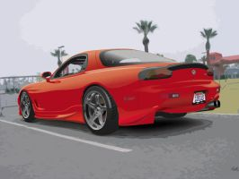 Red Mazda RX-7 by lukas2die4