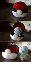 Pokebola com Squirtle by gengibrecroche