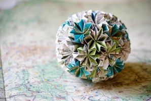 Earth - Kusudama 13 by happy96