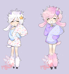 Set 0074[closed] Sleepy time goats by PastelBits