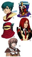 Baten Kaitos Sketchdump by SoftBluewind