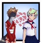 Chinatsu and Stacey Ayane .:Commission:. by RachelTheFurry