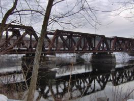 steel trestle bridges Hooksett by crazygardener