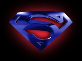 Superman Emblem-red_neon by hsindi