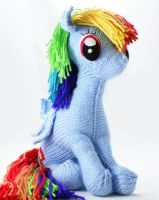 First Big Rainbow Dash - Knitted Plush by SparkAbsurd