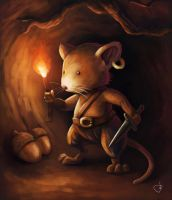 Cave explorer mouse by Ryben