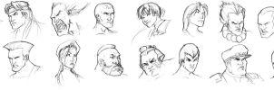 Street Fighter Head Shots by ComfortLove