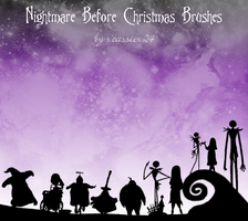 Nightmare B4 Christmas Brushes by xCassiex24