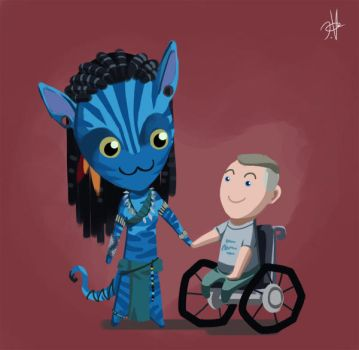 Neytiri N Jake by chikinrise