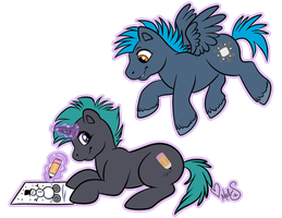 Chibi Ponies for CanineHybrid by Miss-Melis