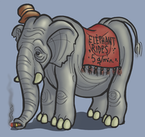 Elephant by ASwarmOfBees