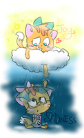 Happiness Always Comes After Sadness by AmBerDaCat