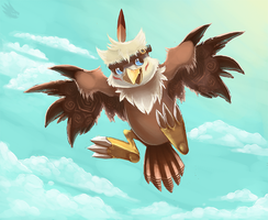 Hawkmon by Cryptid-Creations