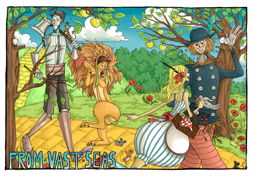 FROM VAST SEAS -Color Spread 1 -Yellow brick road by S0KK0