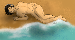 Hannibal mermaid AU - Finding him on the beach by FuriarossaAndMimma