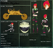 YuGiOh 5Ds: Keres Ryder Ref. Sheet by Hughesation