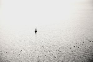 Lonely boat by maho167