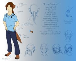 Riza- Ref Sheet by Lunaromon