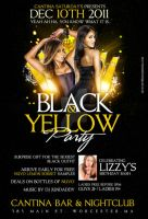 black and yellow party flyer by DeityDesignz