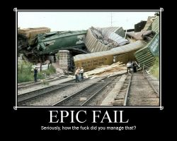 epic train fail by MABCOW