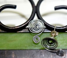 Sterling silver coil stud by CrysallisCreations