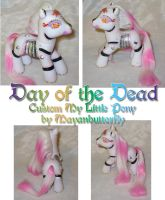 Day of the Dead Custom Pony by mayanbutterfly