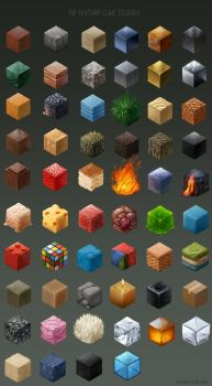 58 material cubes by Detkef