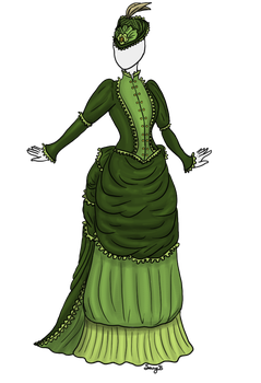 Green Victory dress adoptable SOLD by Captain-Savvy