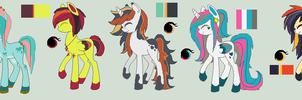 Pony Adoptable Batch 3# -CLOSED- by LuckyCloverAdopts