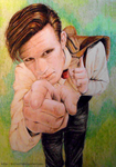 Matt Smith as The Doctor by Trilly21