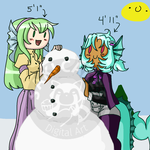 Silly play in the Snow by SakiCakes