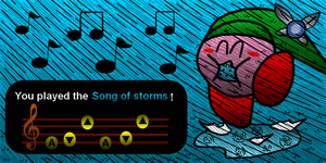 Kirby plays the song of storm by pouchnoubout