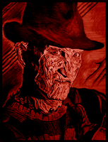 Freddy Krueger - A Nightmare On Elm Street by Kevercaser